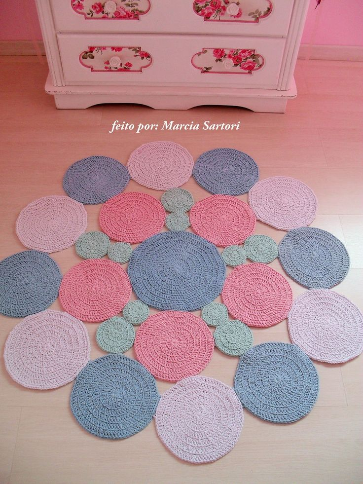 365 best tapetes de croche images on pinterest for Tapetes de crochet