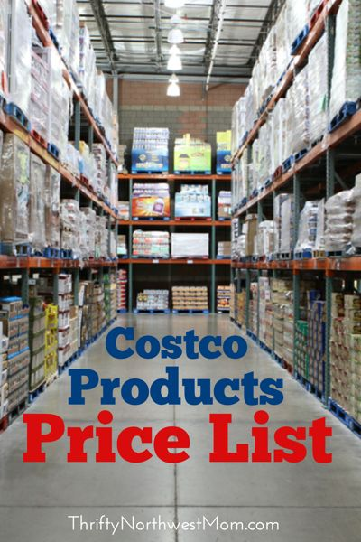 Costco Products Price List - over 1000 items listed!