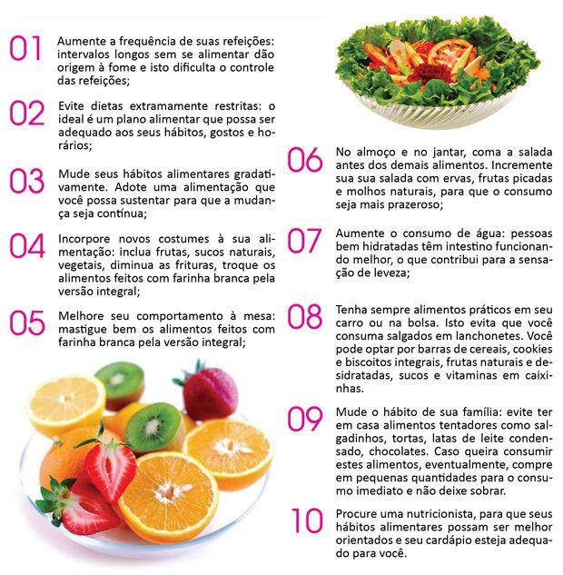 10 dicas para ajudar na manutenção da RA(Reeducação alimentar) e perder peso com SAÚDE!