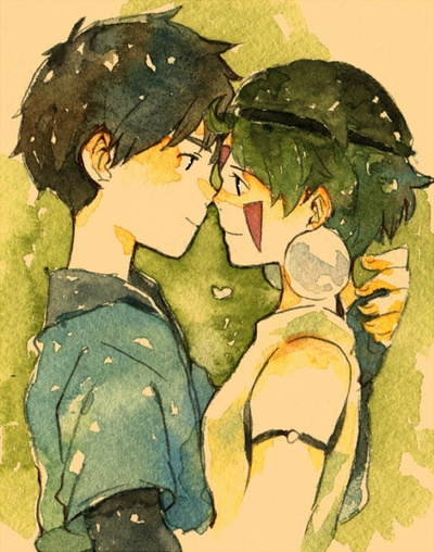 Ashitaka and San. I was really mad when they didn't get together... I mean they kinda did... But not really...