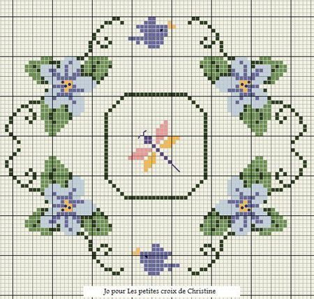 cross-stitch biscornu chart... no color chart available, just use pattern chart as your color guide.. or choose your own colors...