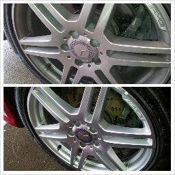 21 best car detailing beforeafter pictures images on pinterest brake dust removal during wash process benz ottawa solutioingenieria Choice Image