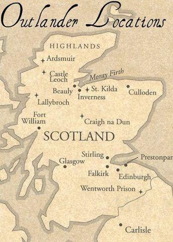 outlander scotland map