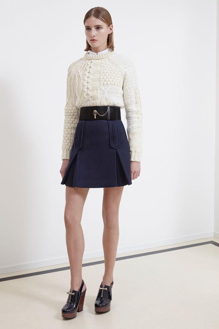 Carven Pre-Fall 2014 Fashion Show.  I like the pocket positions.