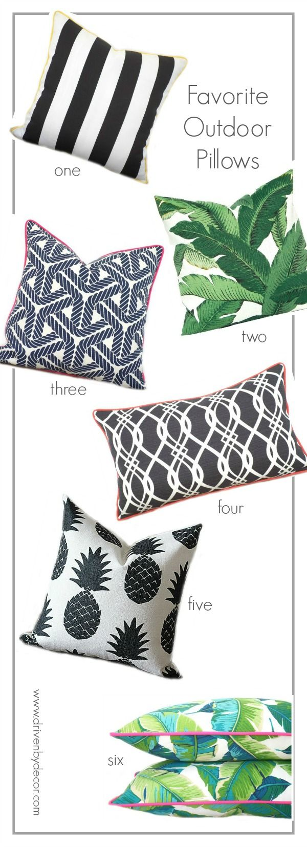 Loving these fun, stylish outdoor pillows!