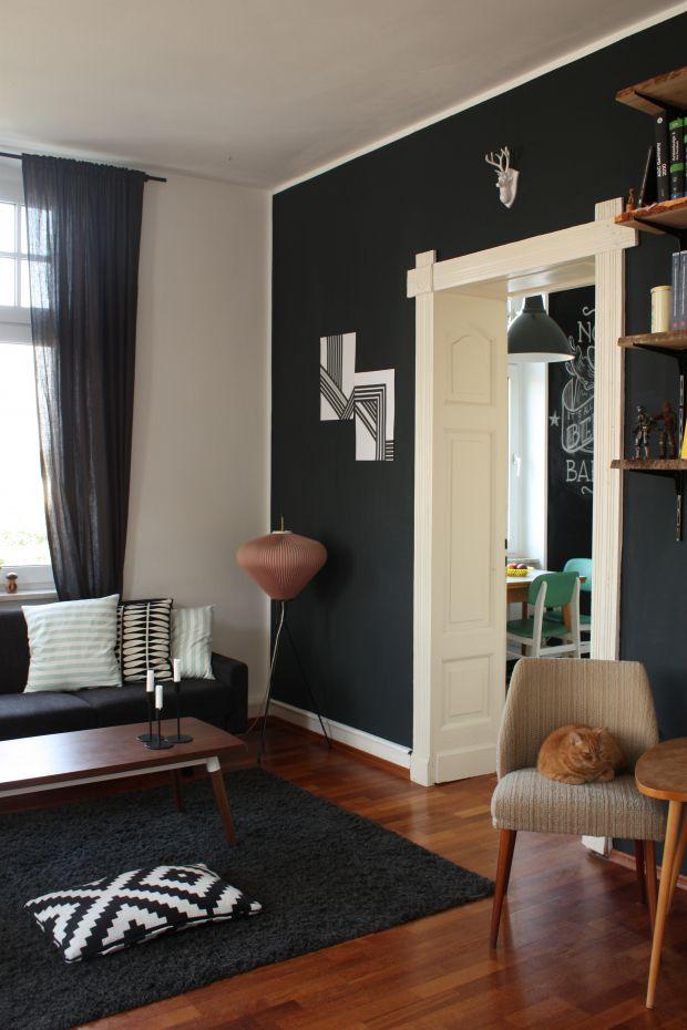 Blick in die Küche, Tags Regal, 50er, Ikea, Vintage, Wohnzimmer, Midcentury, Küche, Wohnzimmer