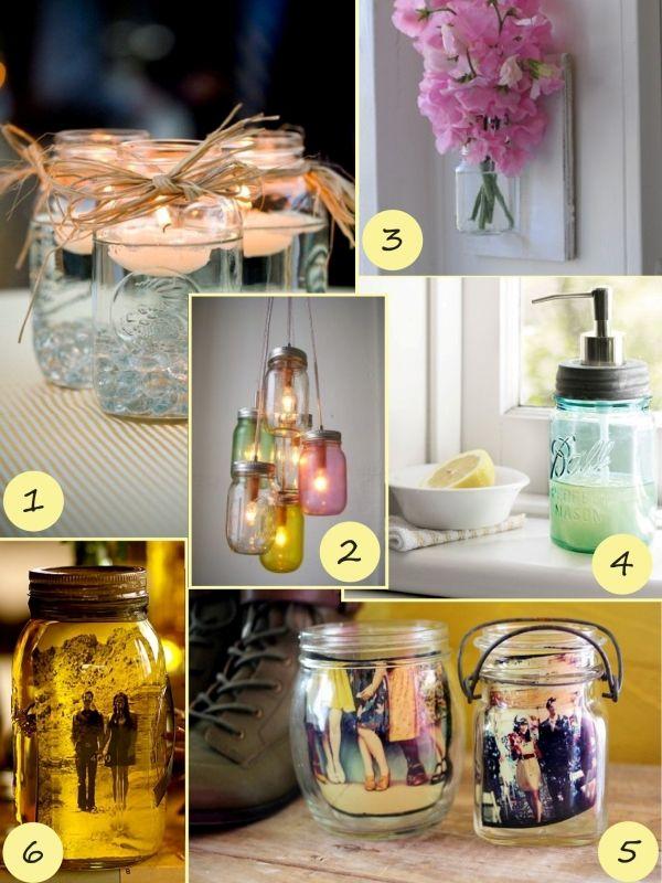 Seifenspender-Kerzenlicht-Photorahmen-Blumen-Einweckglass