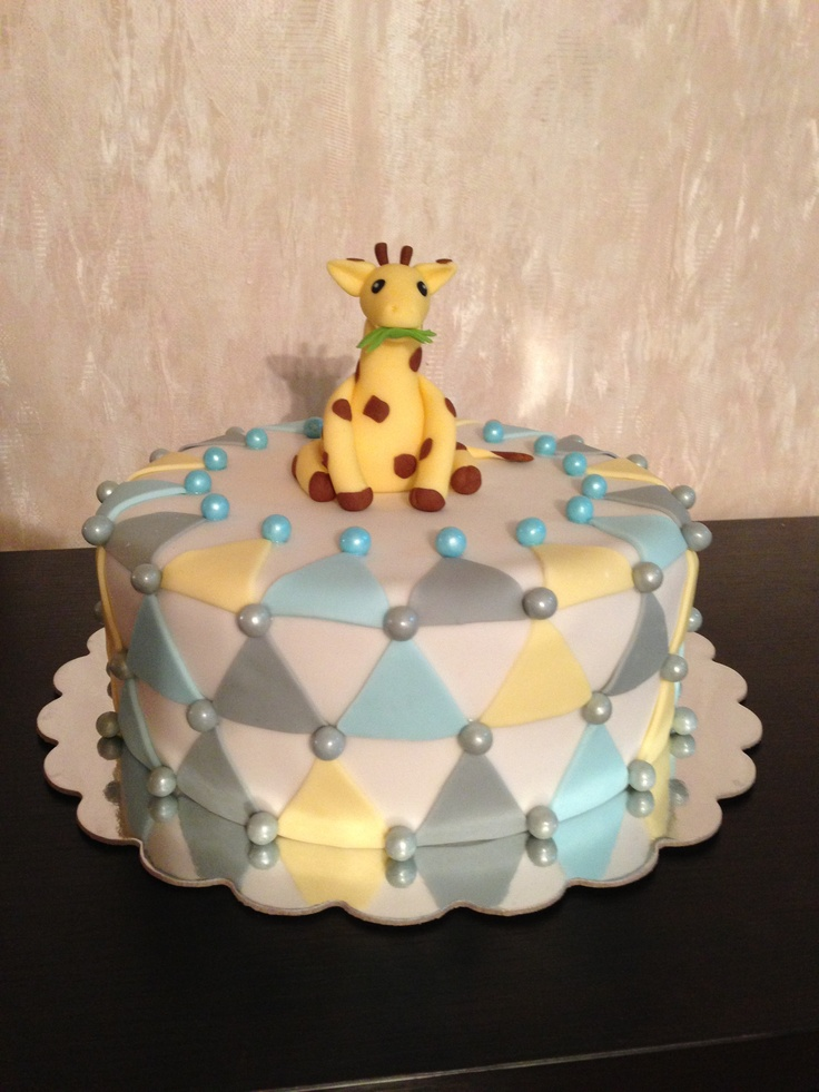 Baby Shower Giraffe Images ~ Baby boy shower cake giraffe theme showers pinterest and