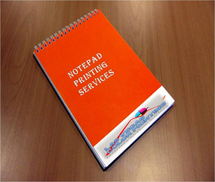 Get Printednotepads From Las Vegas Color Printing At Very Fair Price This Is Also