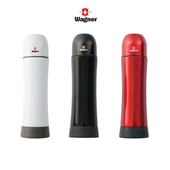 COD.TT032 Botella Térmica con tapa doble función vaso y seguro de cierre. Acero Inoxidable con acabado brillante Capacidad: 500 CC.