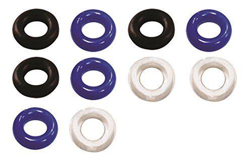 Outop 10 Stück Wasserdicht Silikon Cockringe Penisring Vorlaufkontrolle Ring Super Stretch Cockring Prostata Set männliche Masturbation Farbe zufällig