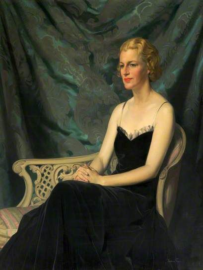 Portrait of Gracie Fields (1898–1979) c.1938 by James Gunn (Scottish 1893-1964). Much loved British actress and singer.