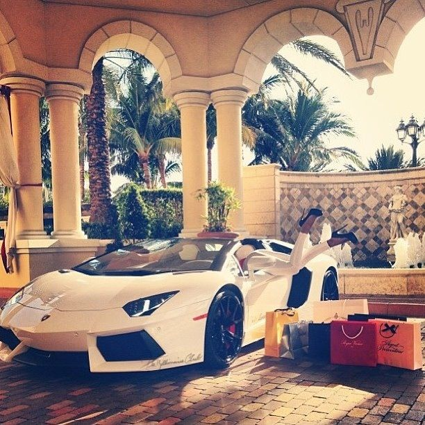 Lamborghini Aventador. Honestly, I just want the car. I don't need/want a fancy house or clothes. I just want cars