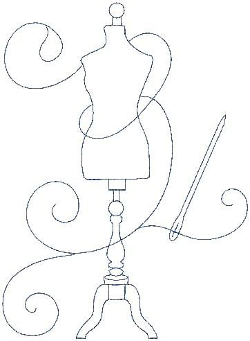 Wouldn't this be a beautiful appliqué, and the swirl of scrolling thread could be the actual quilting stitch.