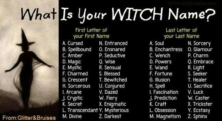 Witch name   Wiccan, witch, Celtic, etc   Pinterest ... - photo#3