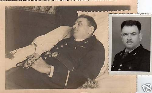 A soldier of french National Gendarmerie before and after his death