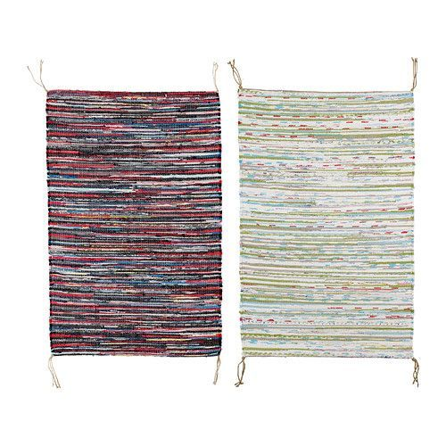TÅNUM Rug, flatwoven   - IKEA...Love the one on the right, going to make a runner.  Sew three together, end to end and ta'da, a runner, almost nine feet long,  for about 21.00!