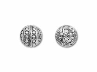 Bali Silver Round Bead with Large and Small Granulation