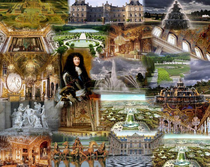 Классицизм во Франции-Версаль-Версаль - дворец, город, парк-коллаж-иллюстрация