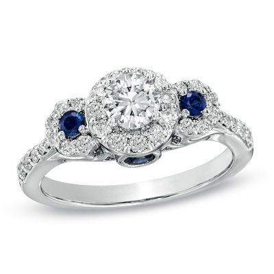 beautiful engagement ring with sapphires