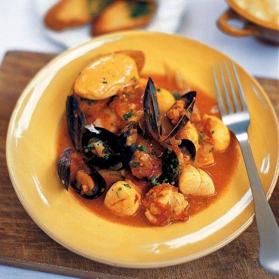 Mediterranean fish stew with rouille croutons recipe for French fish stew