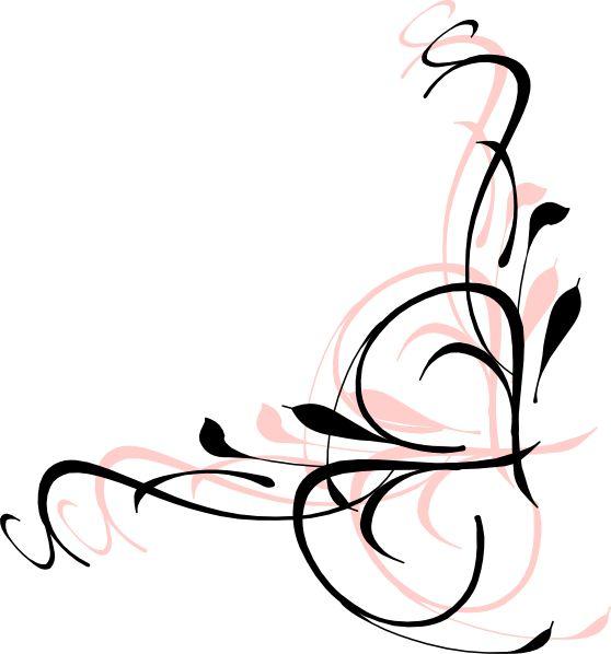 Black Flower Clip Art At Clker Com: 30 Best Images About Floral On Pinterest