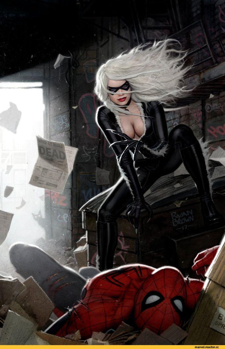 Spider-Man,Человек-Паук, Спайди, Твой дрюжелюбный сосед, Питер Паркер,Marvel,Вселенная Марвел,фэндомы,Black Cat,Черная Кошка, Фелиция Харди,ryanbrown-colour