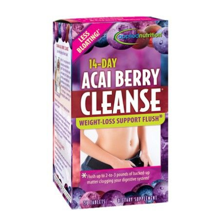 14-Day ACAI BERRY CLEANSE    WEIGHT-LOSS SUPPORT FLUSH by appliednutrition AED220.00