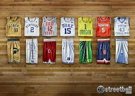 Vintage college basketbal jerseys