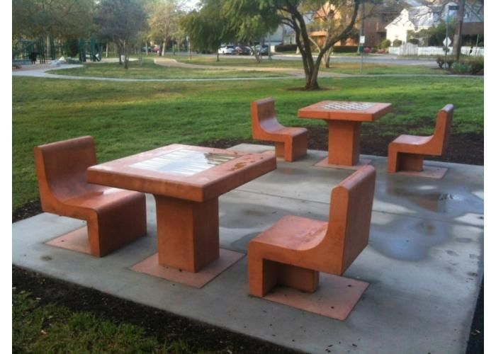 Perfect Valley Village Park   City Of Los Angeles. Custom Concrete Tables With  Chairs. Tables