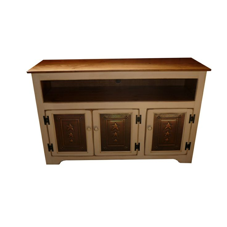 Cream TV Console with Tin Doors http://www.thecuttersedge.com/product-2390/Cream-TV-Console-with-Tin-Doors