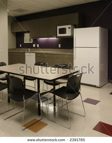 Small break room office break room stock photo 2391785 for Office lunch room design ideas