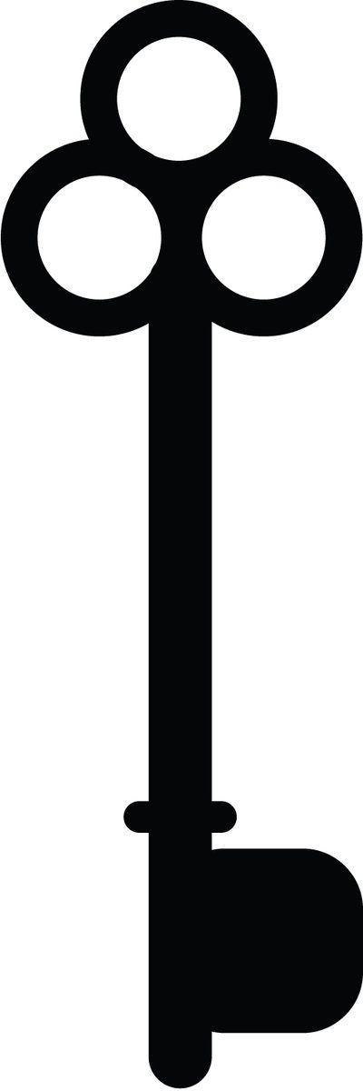 old key silhouette  | Skeleton Key Silhouette : 05 by ~taeliac-stock on deviantART