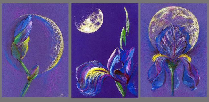Original Pastel Painting: Moon's Iris by LS