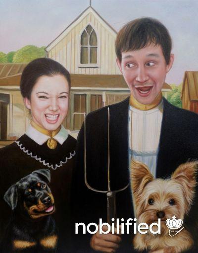 Nobilified   Pet Portrait   American Gothic