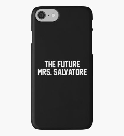 The Future Mrs. Salvatore-- White iPhone Case/Skin