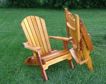 Adirondack Chair Plans Comfy Folding Cedar Armchair Outdoor Chair by laughingcreekprod