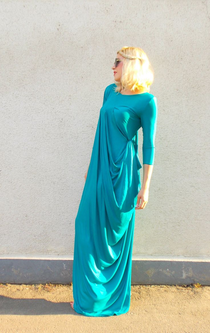 Posted on Etsy : Teal Kaftan TDK133, Long Teal Kaftan, Pleated Shoulder Dress, Long Summer Dress, Wedding Summer Kaftan https://www.etsy.com/listing/239632314/teal-kaftan-tdk133-long-teal-kaftan?utm_campaign=crowdfire&utm_content=crowdfire&utm_medium=social&utm_source=pinterest