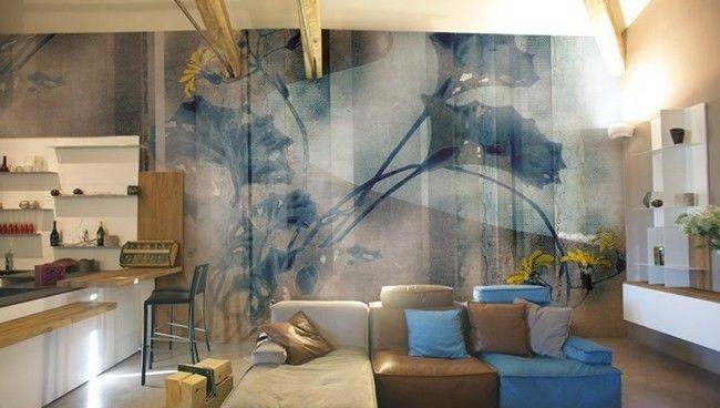 Обои-фреска, модные тенденции в интерьере 2015