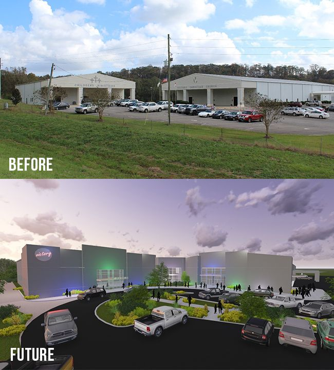Our Blog | Live Design Group: Victory Church Transformation - before and after - Pell City, Alabama