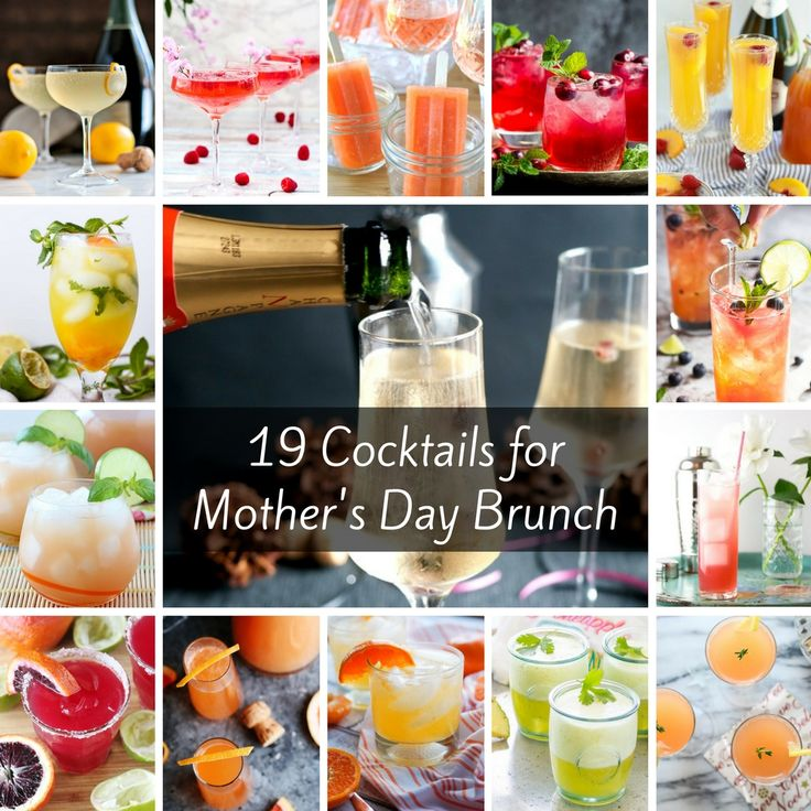 If you're looking for Mother's Day Brunch Cocktail ideas, we've got you covered! I've rounded up 19 beautiful cocktails to choose from: bubbly, spicy, herbal, floral, sweet, fruity! Which one will your mom like best?