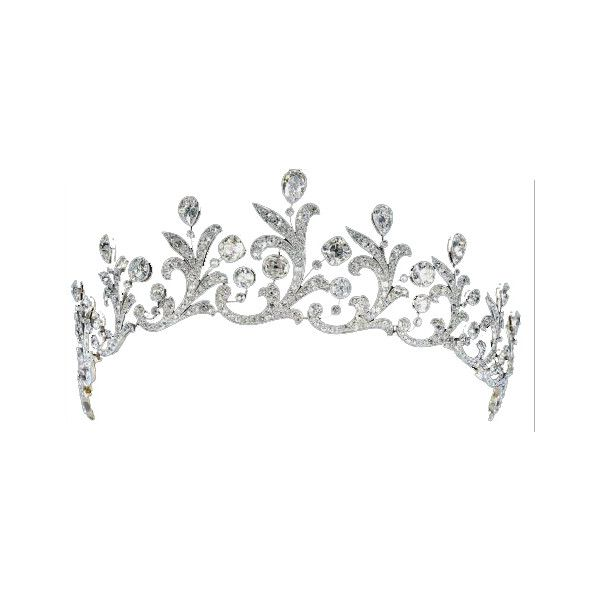 Cartier 'Couronne Triomphale' diamond and platinum tiara, made in 1946.
