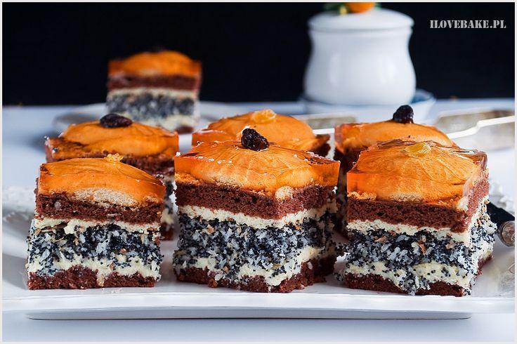 Ciasto makowe z kokosem - I Love Bake