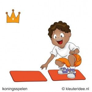 De koninklijke loper, koningsspelen voor kleuters, kleuteridee ,12 .