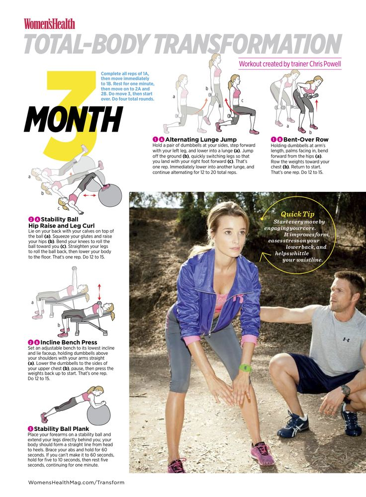 Total-Body Transformation: Month 3  In the third month of your total-body transformation designed by trainer Chris Powell, you'll do supersets to help you blast the fat that's covering your lean muscle.