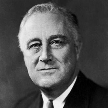 Franklin Delano Roosevelt, commonly known by his initials FDR, was an American statesman and political leader who served as the 32nd President of the United States. Presidential term: March 4, 1933 – April 12, 1945 (12 yrs.).  Born: January 30, 1882, Hyde Park, NY. Died: April 12, 1945, Warm Springs, GA. Spouse: Eleanor Roosevelt (m. 1905–1945). Vice presidents: John Nance Garner (1933–1941), Henry A. Wallace (1941–1945), Harry S. Truman (1945).