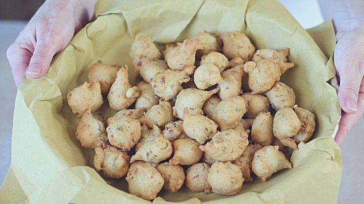 FRITTELLE SALATE TONNO & OLIVE Ricetta Facile - Savory Olives & Tuna Fri...
