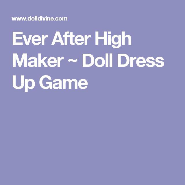 Ever After High Maker ~ Doll Dress Up Game