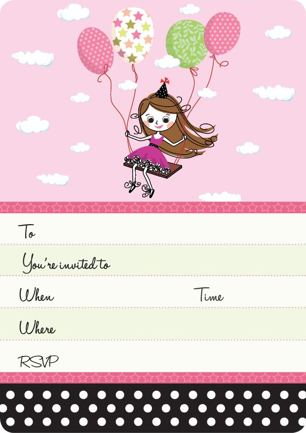 Pink Girls Party | Party Girl Invite Set- 15 invites + coordinating envelopes + magnets $17.50 Shop for it http://www.partymama.com.au/girls-invitations-party-girl-invite-set-p-9.html