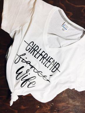GF Fiance Wife Upgrade Tee   Wife Tee   Wifey t shirt littlebrownnsuitcase.com littlebrownnsuitcase